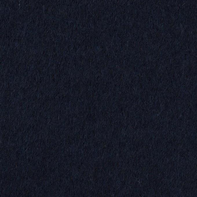 ウール×無地(ダークネイビー)×ビーバー イメージ1