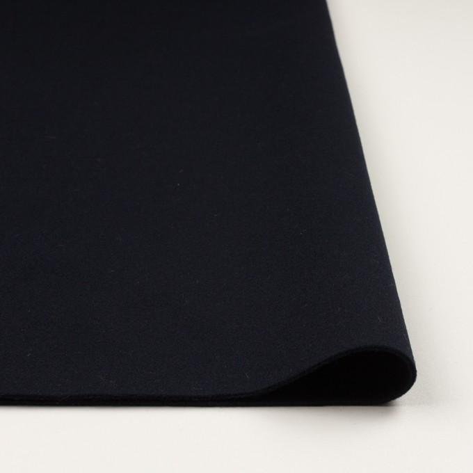 ウール&カシミア×無地(ダークネイビー)×ソフトメルトン イメージ3