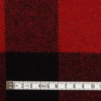ウール×チェック(レッド&ブラック)×フラノ(フランネル) サムネイル4