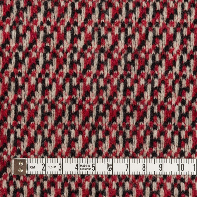 ウール×ミックス(アイボリー、レッド&ブラック)×ジャガードニット イメージ4