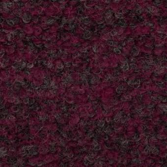 ウール&ポリエステル混×ミックス(プラムパープル&チャコールグレー)×ループニット サムネイル1