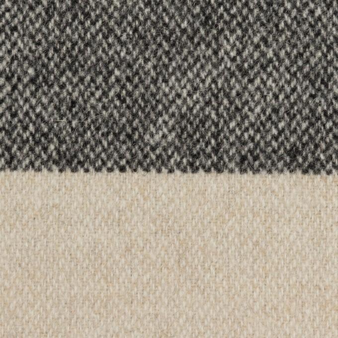 ウール×ボーダー(キナリ&ブラック)×ツイード イメージ1