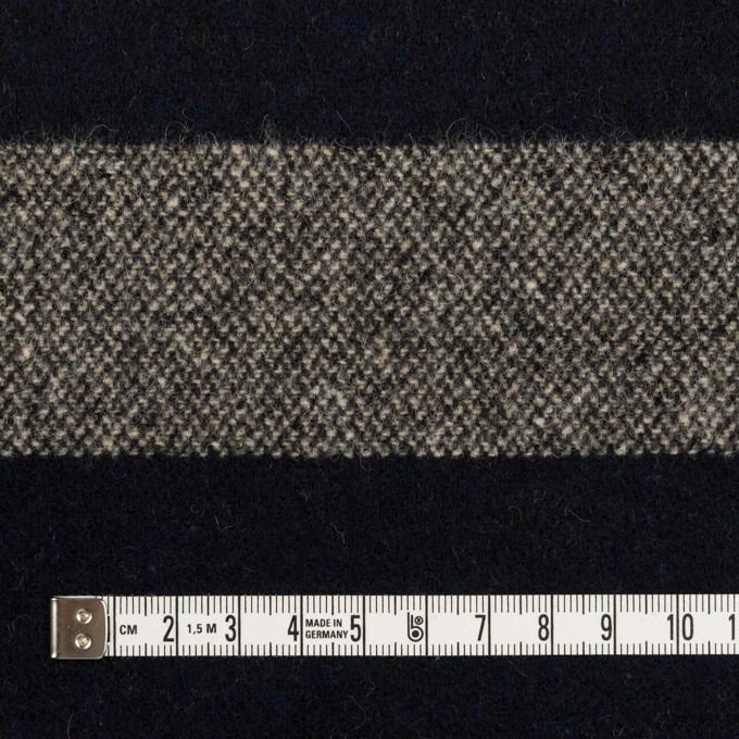 ウール×ボーダー(キナリ&ダークネイビー)×ツイード イメージ4