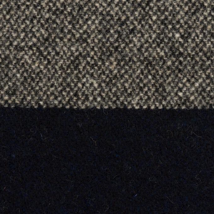 ウール×ボーダー(キナリ&ダークネイビー)×ツイード イメージ1