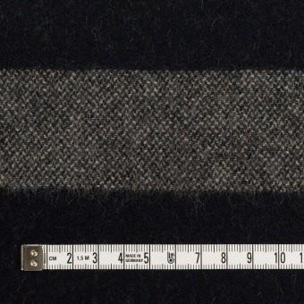 ウール×ボーダー(グレイッシュベージュ&ダークネイビー)×ツイード サムネイル4