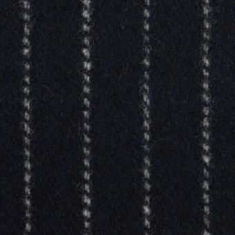 ウール×ストライプ(ダークネイビー)×ソフトメルトン サムネイル1
