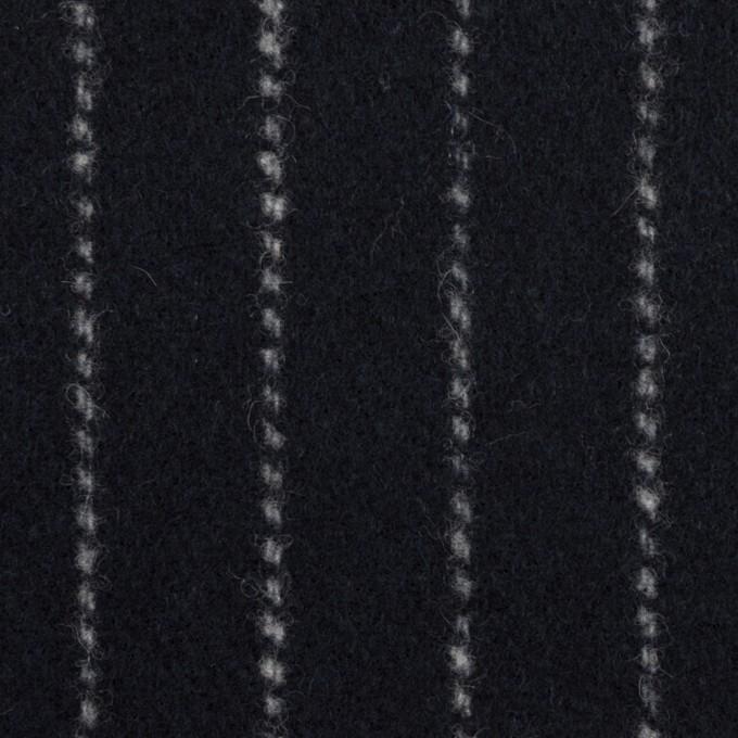 ウール×ストライプ(ダークネイビー)×ソフトメルトン イメージ1