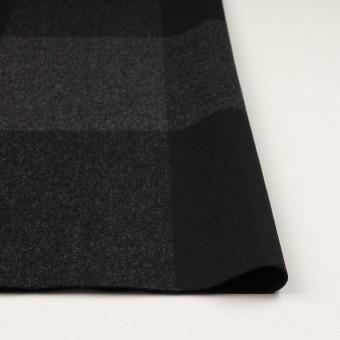 ウール×チェック(チャコールグレー&ブラック)×二重織_パネル サムネイル3