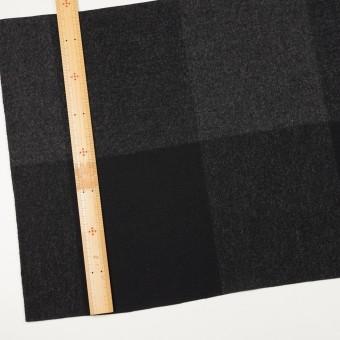 ウール×チェック(チャコールグレー&ブラック)×二重織_パネル サムネイル4