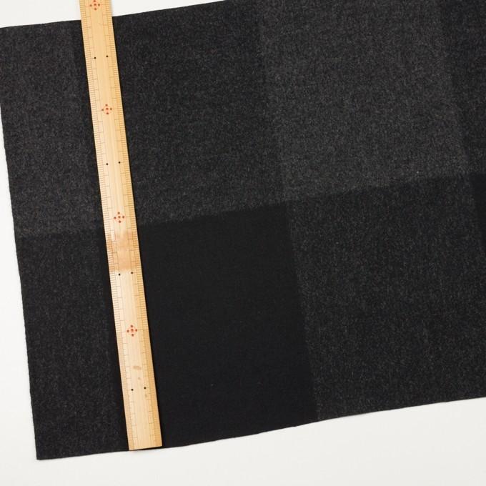 ウール×チェック(チャコールグレー&ブラック)×二重織_パネル イメージ4