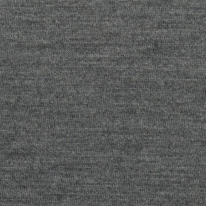 ウール×無地(グレー)×天竺ニット イメージ1