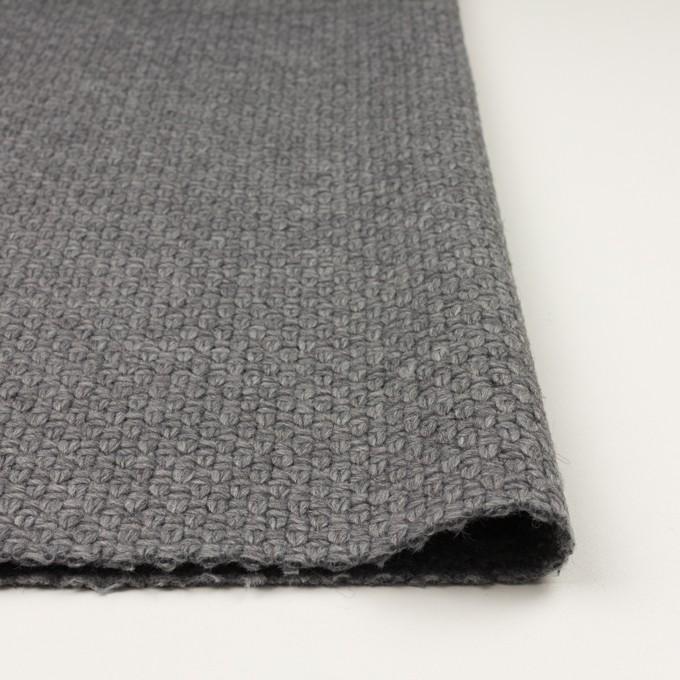 ウール&ナイロン×無地(グレー)×斜子織 イメージ3