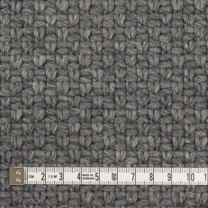 ウール&ナイロン×無地(グレー)×斜子織 イメージ4
