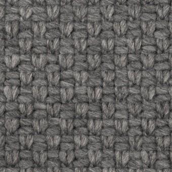 ウール&ナイロン×無地(グレー)×斜子織