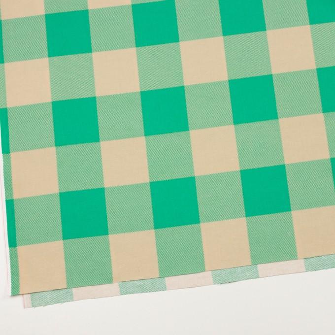 コットン×チェック(キナリ&エメラルドグリーン)×フランネル_全2色 イメージ2