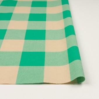 コットン×チェック(キナリ&エメラルドグリーン)×フランネル_全2色 サムネイル3