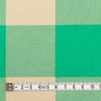 コットン×チェック(キナリ&エメラルドグリーン)×フランネル_全2色 サムネイル4