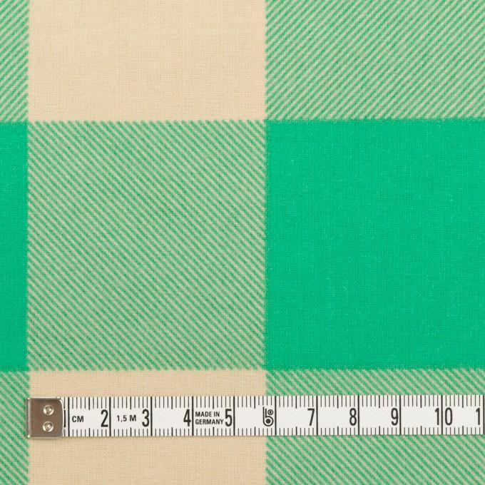 コットン×チェック(キナリ&エメラルドグリーン)×フランネル_全2色 イメージ4