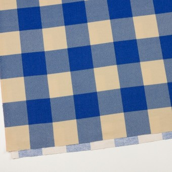 コットン×チェック(キナリ&ロイヤルブルー)×フランネル_全2色 サムネイル2