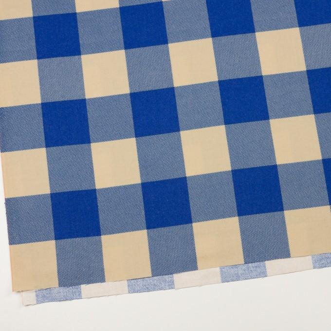 コットン×チェック(キナリ&ロイヤルブルー)×フランネル_全2色 イメージ2