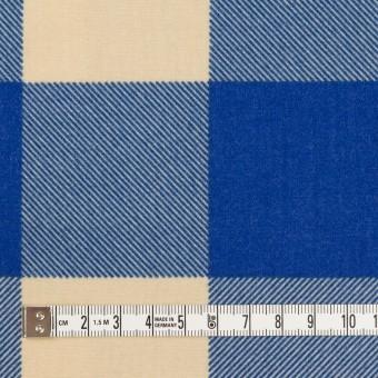 コットン×チェック(キナリ&ロイヤルブルー)×フランネル_全2色 サムネイル4