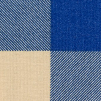 コットン×チェック(キナリ&ロイヤルブルー)×フランネル_全2色