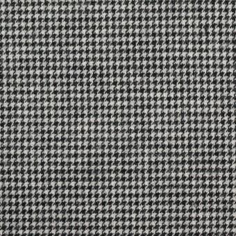 コットン×チェック(ブラック)×千鳥格子