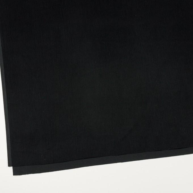 コットン×無地(ブラック)×中細コーデュロイ イメージ2