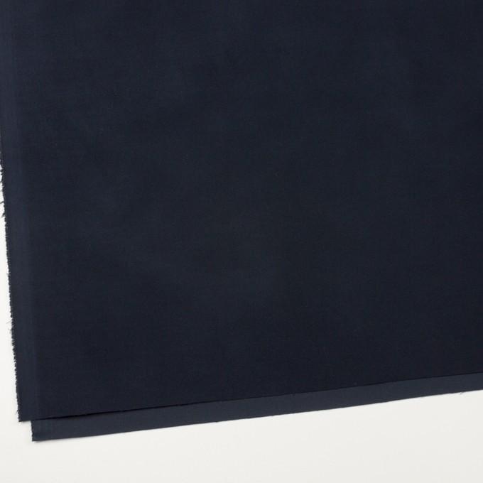コットン&ポリウレタン×無地(ダークネイビー)×フランネル・ストレッチ イメージ2