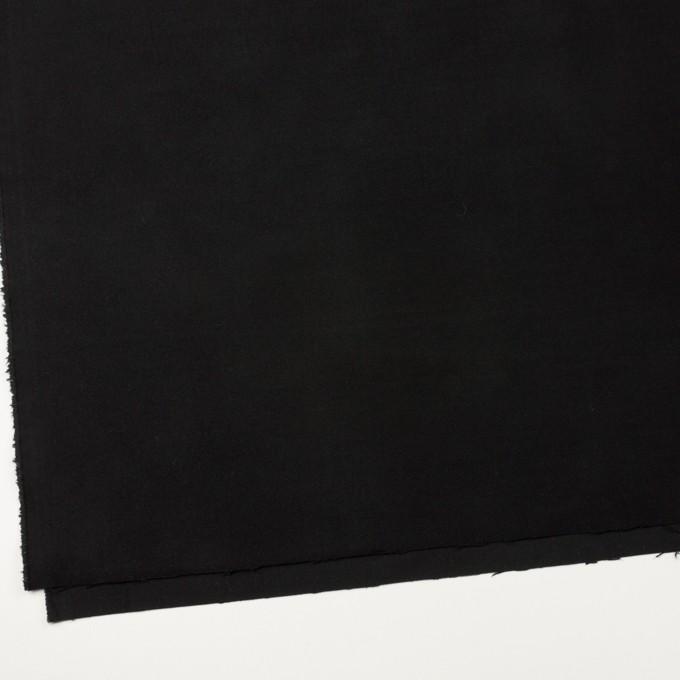 コットン&ポリウレタン×無地(ブラック)×モールスキン・ストレッチ イメージ2