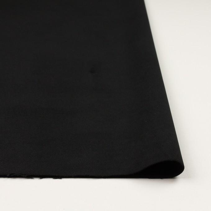 コットン&ポリウレタン×無地(ブラック)×モールスキン・ストレッチ イメージ3