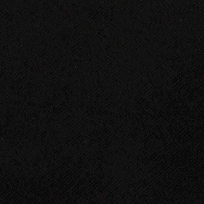 コットン&ポリウレタン×無地(ブラック)×モールスキン・ストレッチ イメージ1
