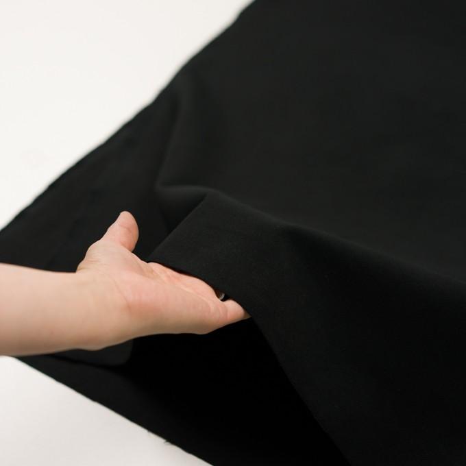 コットン&ポリウレタン×無地(ブラック)×モールスキン・ストレッチ イメージ5