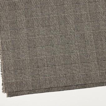 ウール&ポリエステル混×チェック(ベージュ&ブラック)×ツイードストレッチ サムネイル2