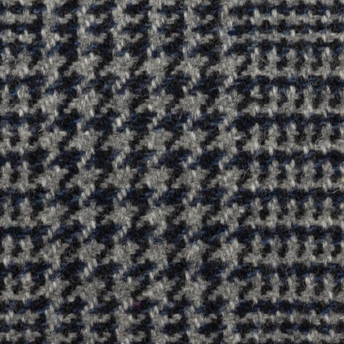 ウール×チェック(グレー&ネイビー)×ツイード イメージ1
