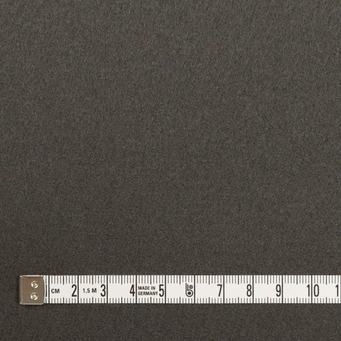 ウール×無地(スチールグレー)×フラノ(フランネル) イメージ4