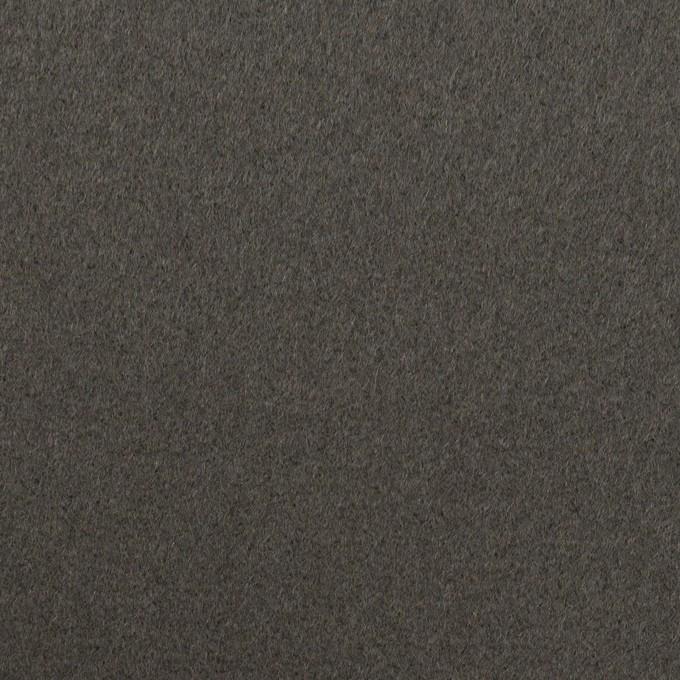 ウール×無地(スチールグレー)×フラノ(フランネル) イメージ1