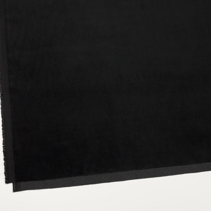 ポリエステル&コットン混×無地(ブラック)×ベッチンストレッチ_全3色 イメージ2