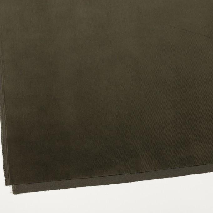 コットン&ポリウレタン×無地(ダークカーキグリーン)×細コーデュロイ・ストレッチ_全3色 イメージ2