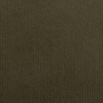 コットン&ポリウレタン×無地(ダークカーキグリーン)×細コーデュロイ・ストレッチ_全3色