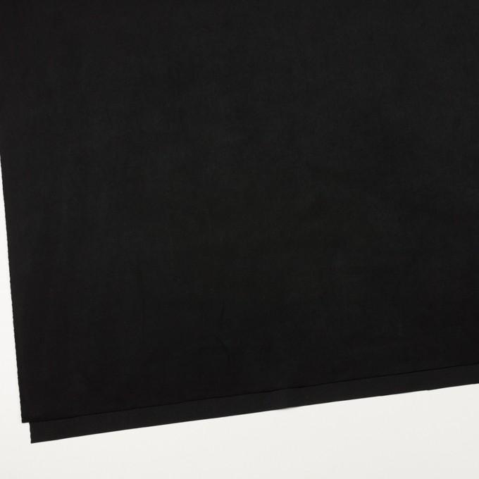 アクリル&ポリエステル混×無地(ブラック)×スエード(人工皮革)_全2色 イメージ2