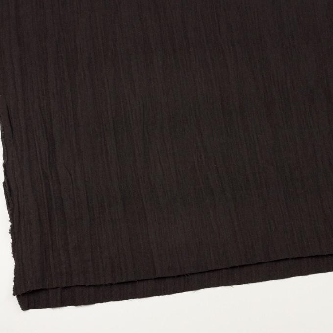 ウール&メタル×無地(ダークブラウン)×ジョーゼットワッシャー_全2色_イタリア製 イメージ2