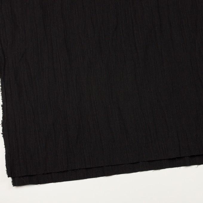 ウール&メタル×無地(ブラック)×ジョーゼットワッシャー_全2色_イタリア製 イメージ2