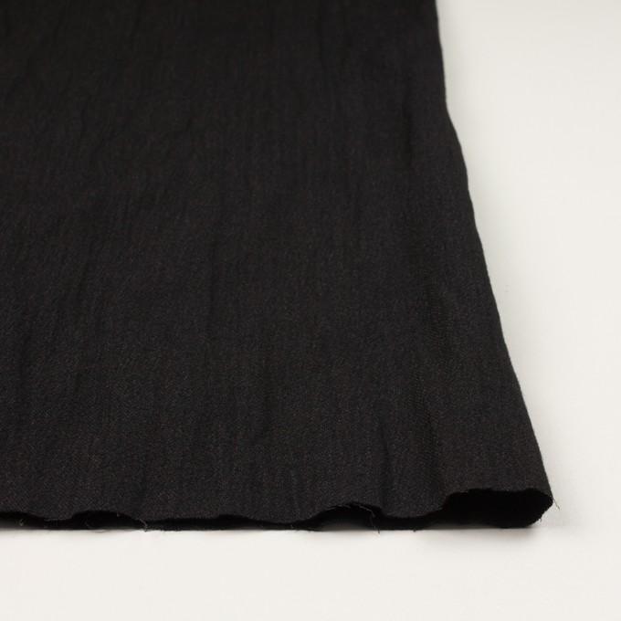 ウール&メタル×無地(ブラック)×ジョーゼットワッシャー_全2色_イタリア製 イメージ3