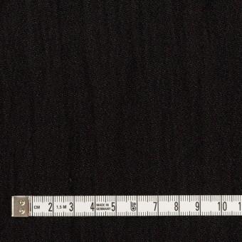 ウール&メタル×無地(ブラック)×ジョーゼットワッシャー_全2色_イタリア製 サムネイル4