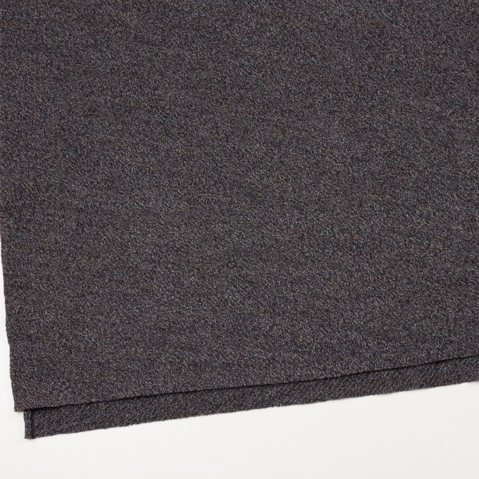 ウール×ミックス(グレー、ネイビー&ブラウン)×かわり編み イメージ2