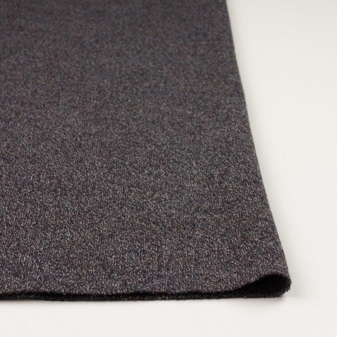 ウール×ミックス(グレー、ネイビー&ブラウン)×かわり編み イメージ3