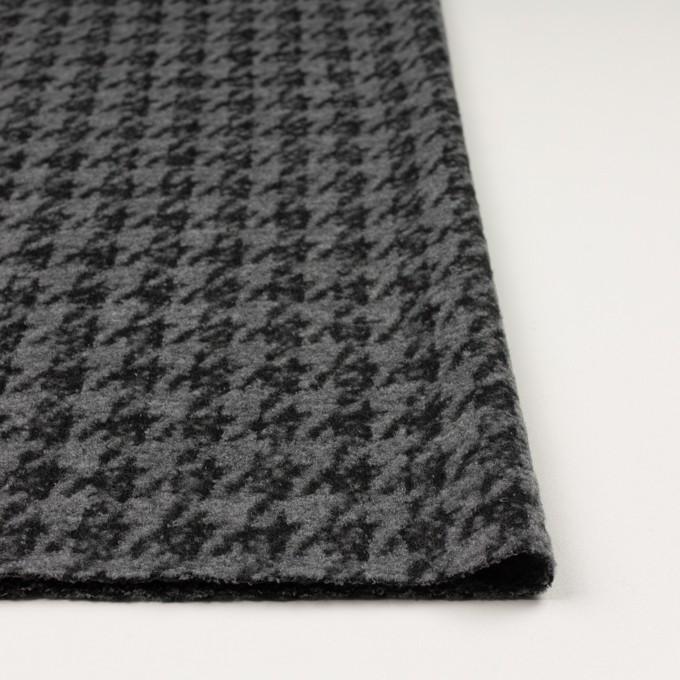 ウール&アクリル混×千鳥格子(グレー&ブラック)×ループニット イメージ3
