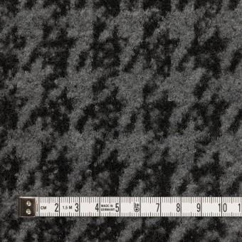 ウール&アクリル混×千鳥格子(グレー&ブラック)×ループニット サムネイル4