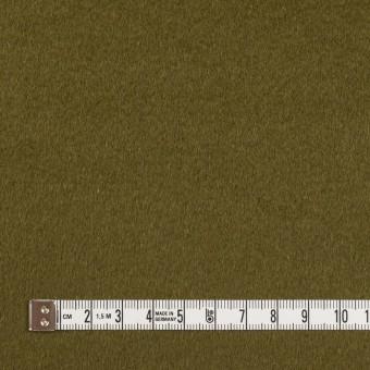 ウール&アンゴラ×無地(カーキグリーン)×ビーバー サムネイル4